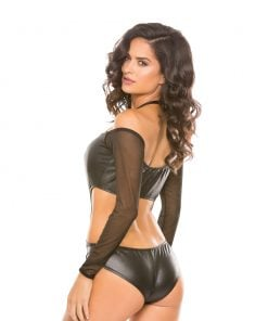 Wetlook & Mesh Romper – Size L/XL