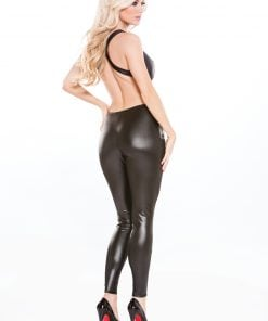 Lace & Wet Look Catsuit – Size One Size Fits Most