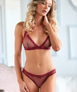 Camille Mesh Bralette & Open Lace-up Panty – Size S/M