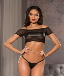 Off The Shoulder Top & G-String – Size L/XL
