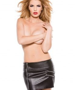 Faux Leather Zipper Skirt – Size Small