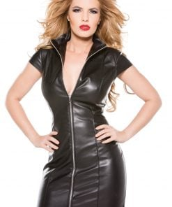 Faux Leather Dress – Size Large