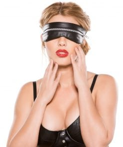 Faux Leather Zip Mask – Size One Size Fits Most
