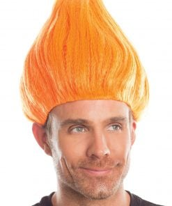 Troll Wig Unisex Orange – One Size
