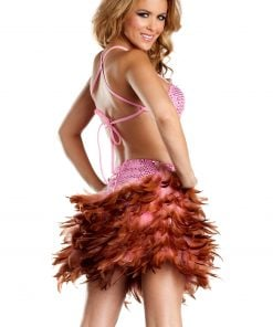 Exotic Feathers Dress – Medium/Large