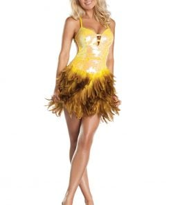 Exotic Feathers Dress – Small/Medium