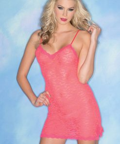 Lacey Love Chemise – Hot Pink – S