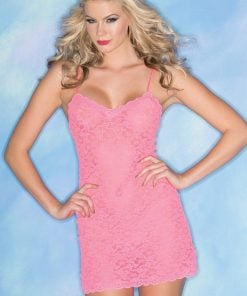 Lacey Love Chemise – Pink – S
