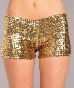 Sequin Booty Shorts – Gold – Small