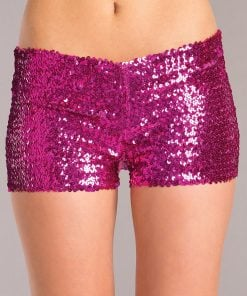Sequin Booty Shorts – Hot Pink – Small