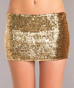 Sequin Skirt – Gold – Small