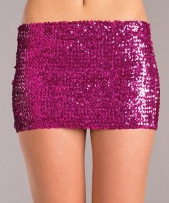 Sequin Skirt – Hot Pink – Medium
