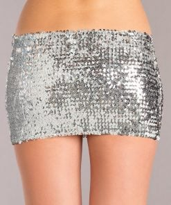 Sequin Skirt – Silver – Small