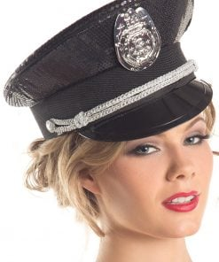 Sequin Police Hat – One Size