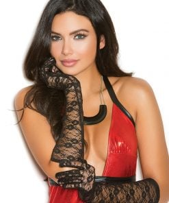 Elbow length lace gloves – Size One Size