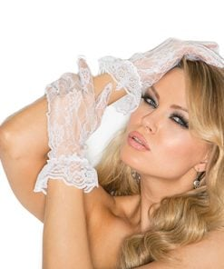Lace wrist length gloves – Size One Size