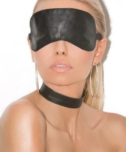 Leather Blindfold Black – Size One Size