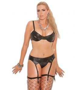 Leather Garter Belt – Size Queen Size