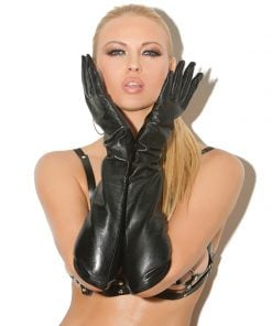Long Leather Gloves – Size One Size