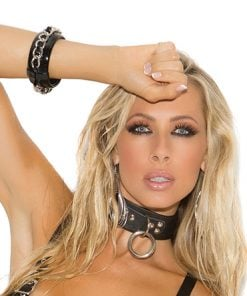Leather Choker with O and D Ring – Size One Size