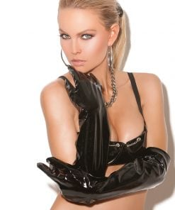 Long vinyl gloves. – Size One Size