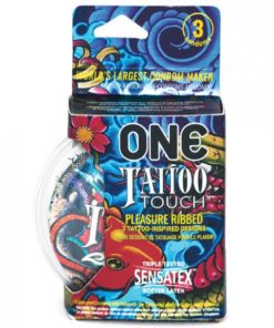 One Tattoo Touch Latex Condoms 3 Pack