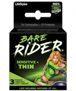 Bare Rider Thin Latex Condom 3 Pack