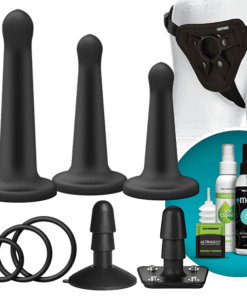 Vac-U-Lock Platinum Silicone Pegging Black Set