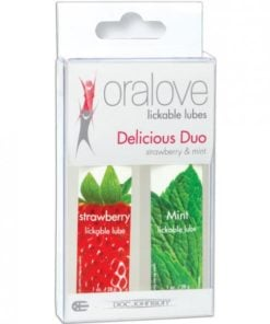 Oralove Delicious Duo Flavored Lube – Strawberry & Mint