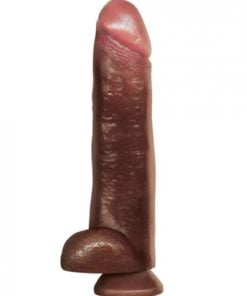 Blackout 13 inches Realistic Cock & Balls Brown