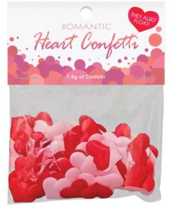 Romantic Heart Confetti Red, Pink