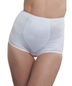 Rago Shapewear Rear Shaper Panty Brief Light Shaping Contour Pads White Lg
