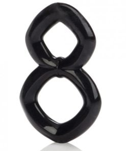 Crazy 8 Enhancer Double Cock Ring Black