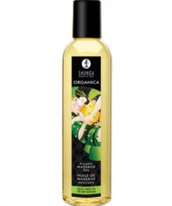 Shunga Organica Kissable Massage Oil Exotic Green Tea 8oz