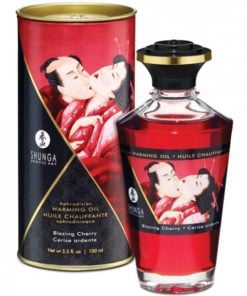 Shunga Warming Massage Oil Blazing Cherry 3.5oz
