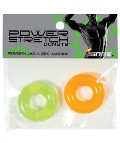 Power Stretch Donuts 2 Pack Orange/Green Rings
