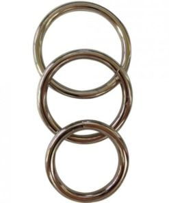 Sportsheets Metal O-Ring 3 Pack Nickel-free Rings