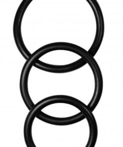 Manbound Rubber Cock Ring Pack Of 3