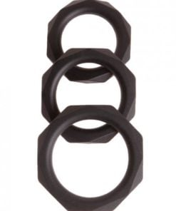 Malesation Diamond Silicone Cock Ring Set Pack Of 3