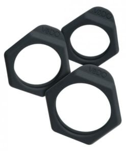 Vedo Bolt C-Ring Set Just Black 3 Pack