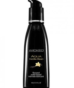 Wicked Aqua Waterbased Lubricant Vanilla Bean 2oz