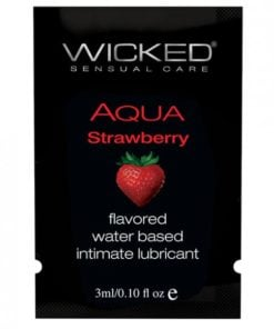 Wicked Aqua Water Based Lubricant Strawberry .1oz