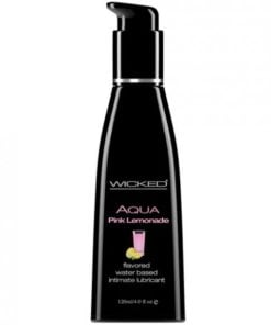 Wicked Aqua Pink Lemonade Flavored Lubricant 4oz