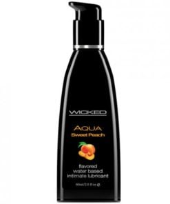 Wicked Aqua Sweet Peach Flavored Lubricant 2oz