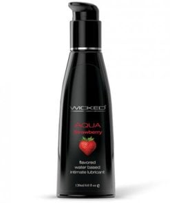 Wicked Aqua Lubricant Strawberry 4 fluid ounces