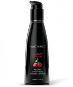 Wicked Aqua Water Based Lubricant Cherry 4oz