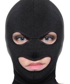 Facade Spandex Hood With Eyes and Mouth Holes Black O/S