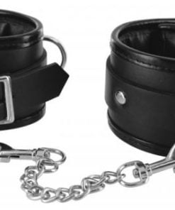 Strict Locking Padded Wrist Cuffs Black
