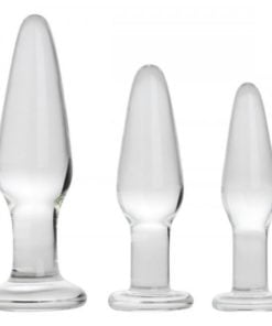 Prism Dosha 3 Piece Glass Anal Plug Kit