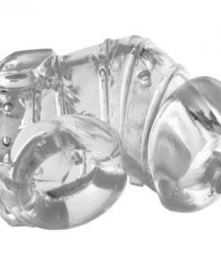 Detained 2.0 Restrictive Chastity Cage With Nubs Clear